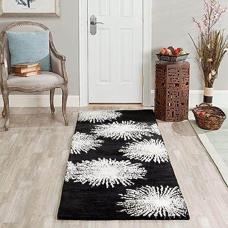 Safavieh Soho Collection SOH712D Handmade Fireworks Black And White Premium  Wool Area Rug (2u0027
