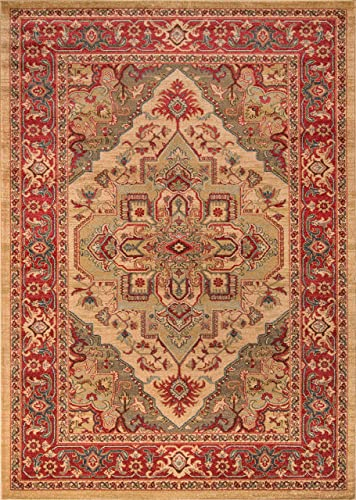Momeni Rugs Ghazni Collection, Traditional Area Rug, 9 3 x 12 6 , Beige