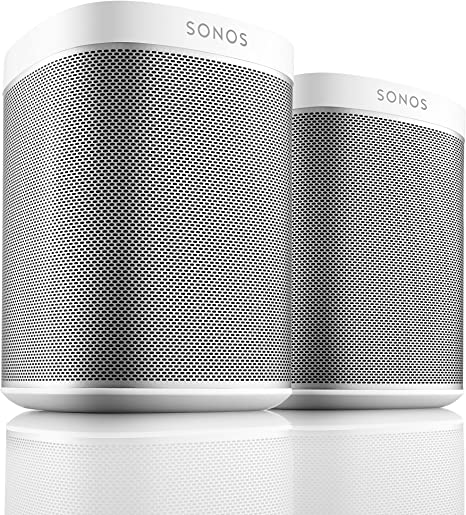 Sonos PLAY:1 White Pair Kit All-In-One Wireless Music Players