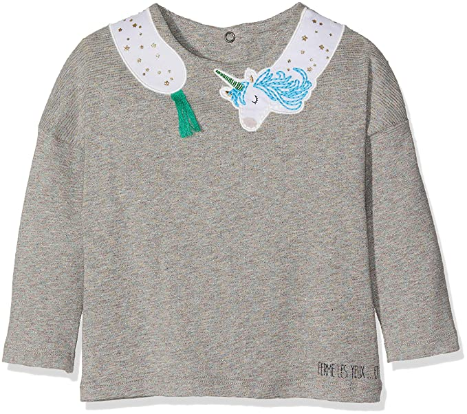 1748212ee12cc Catimini Baby Girls T-Shirt Manches Longues Pour Long Sleeve Top, Grey  (China