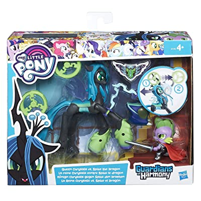 My Little Pony Hasbro Spike The Dragon Guardians of Harmony Queen Chrysalis B6009 English Version [Toy], Assorted Models: Toys & Games [5Bkhe2005570]