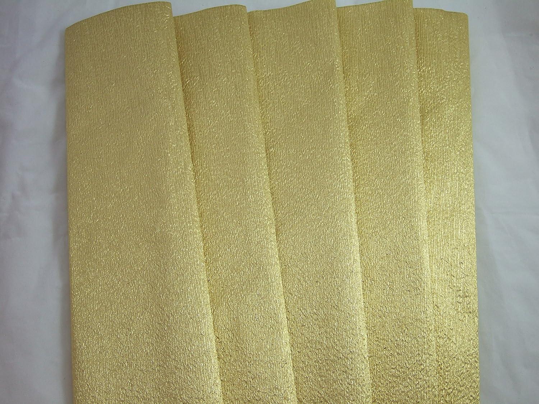 5- oro lamina di alluminio carta crespa pieghe. 70g/mq. 50cm x 150cm Clikkabox Crepe