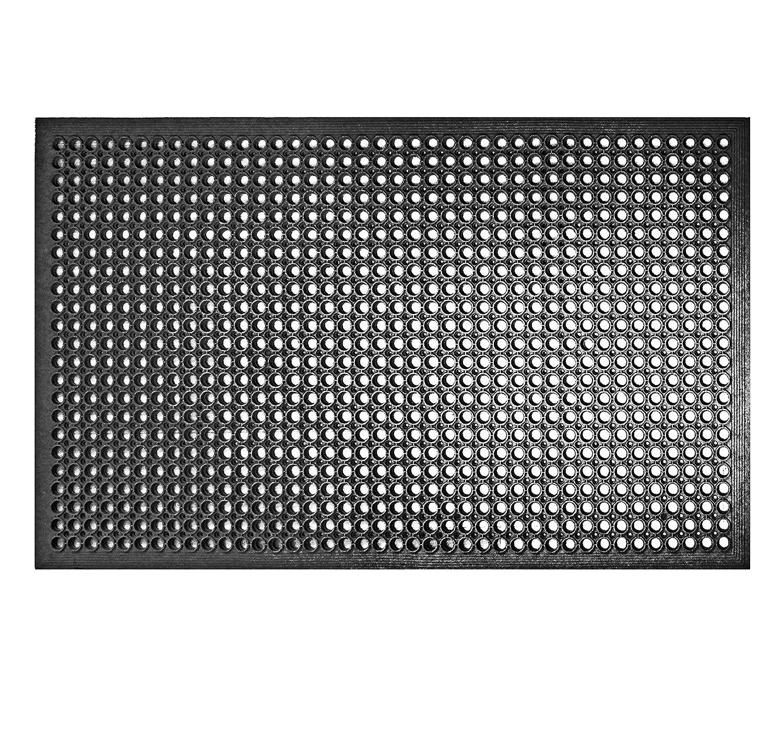 New Star 1 pc Heavy Duty Black 36x60 inch Restaurant Bar Anti Fatigue Rubber Floor Mat