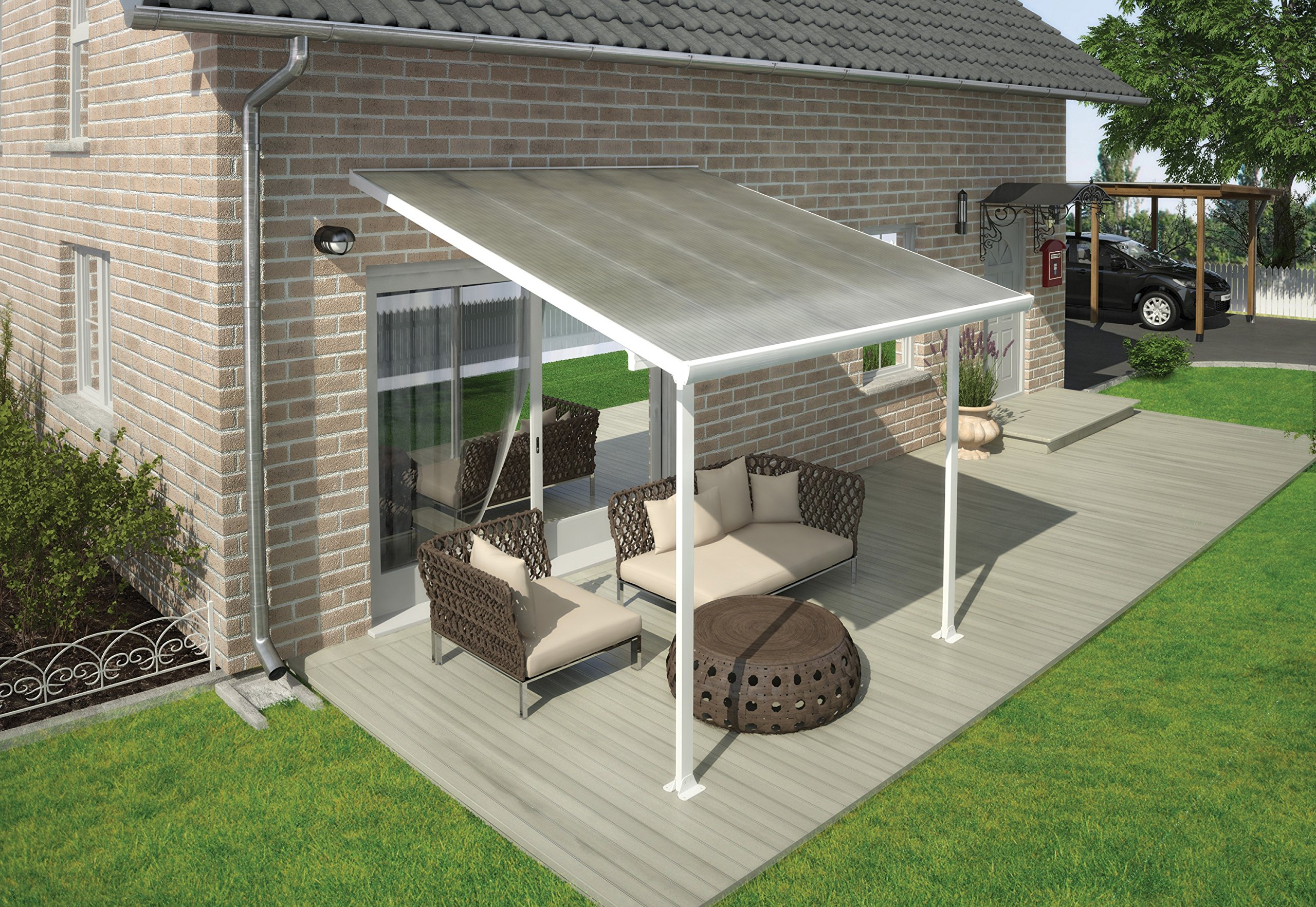 Patio canopy amazon palram pergola patio cover feria 3 x 305m with robust structure for year round freerunsca Images