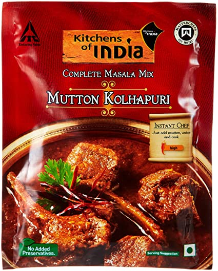 Kitchens of India Mutton Kolhapuri Masala Mix  80g Ready Masalas Curry  Powder available at AmazonKITCHENS OF INDIA HYDERABADI CHICKEN BIRYANI MASALA MIX 80G price  . Amazon Kitchens Of India Butter Chicken. Home Design Ideas