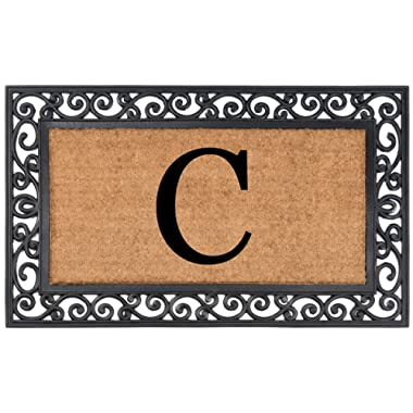 Nance Industries YourOwn Monogrammed Rubber Welcome Mat, 24  x 39