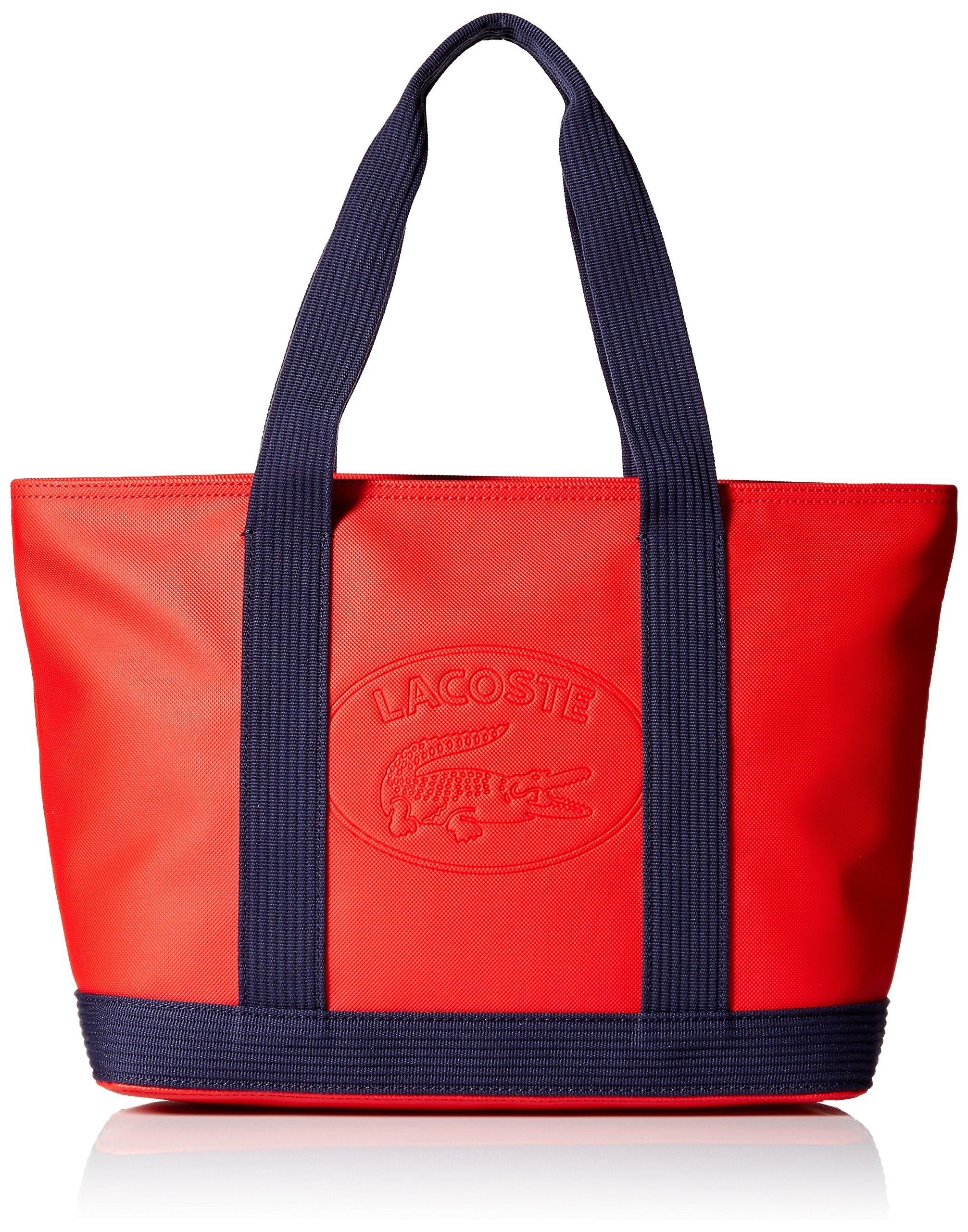 Lacoste Medium Shopping Bag, Nf2416wm, High Risk Red Peacoat