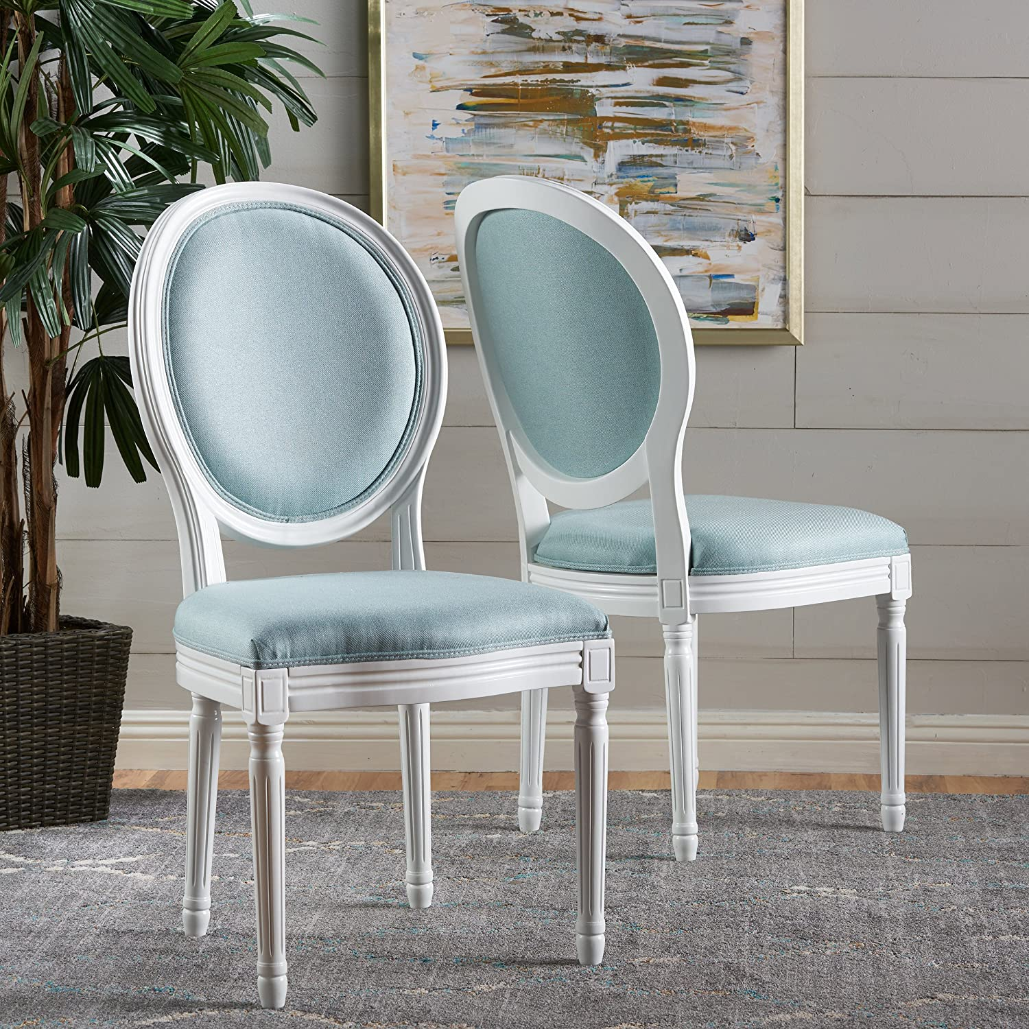 Christopher Knight Home Phinnaeus Dining Chair Set, Light Blue