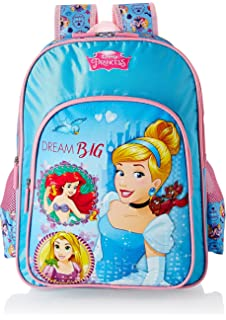 f07ceb766775 Disney Princess Cinderella Blue School Bag for Children of Age Group ...