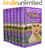 MAIL ORDER BRIDE: Devoted Hearts: Persevering Pioneer Brides: 6 Book Box Set: Clean Western Historical Romance
