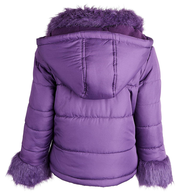 Rothschild Little Girls Down Alternative Fleece Lined Bubble Puffer Winter Coat