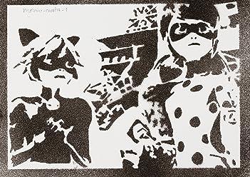 Póster Prodigiosa (Miraculous) Las Aventuras De Ladybug Y Cat Noir, Grafiti Hecho A Mano - Handmade Street Art - Artwork