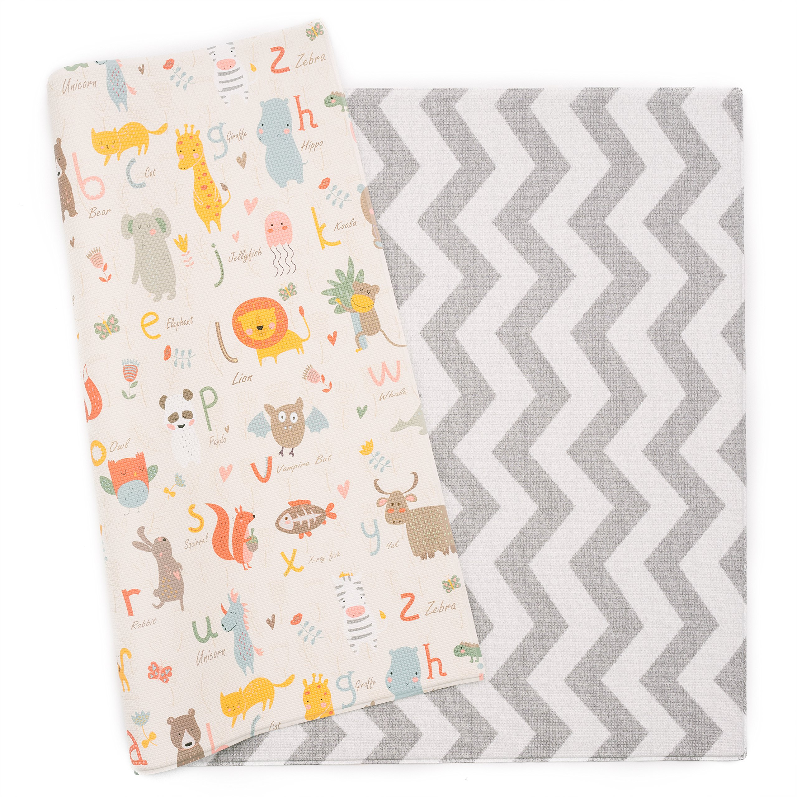 Baby Care Play Mat - Haute Collection (Large, Zig Zag - Grey)