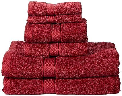AmazonBasics Set di 2 asciugamani da bagno,2 asciugamani per le mani ...