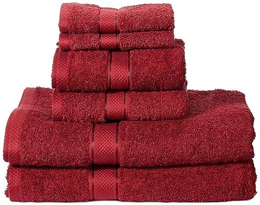 180 opinioni per AmazonBasics- Set di 2 asciugamani da bagno,2 asciugamani per le mani e 2