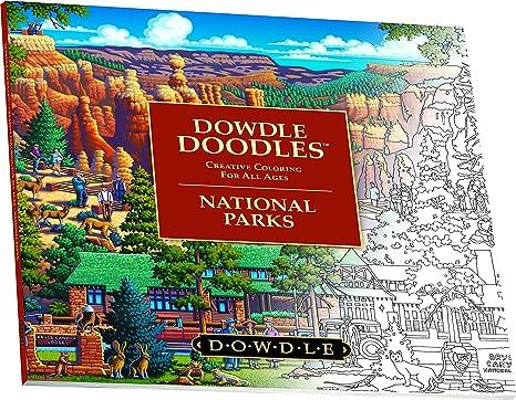 Dowdle Folk Art Doodles Bryce Canyon National Park Coloring Book