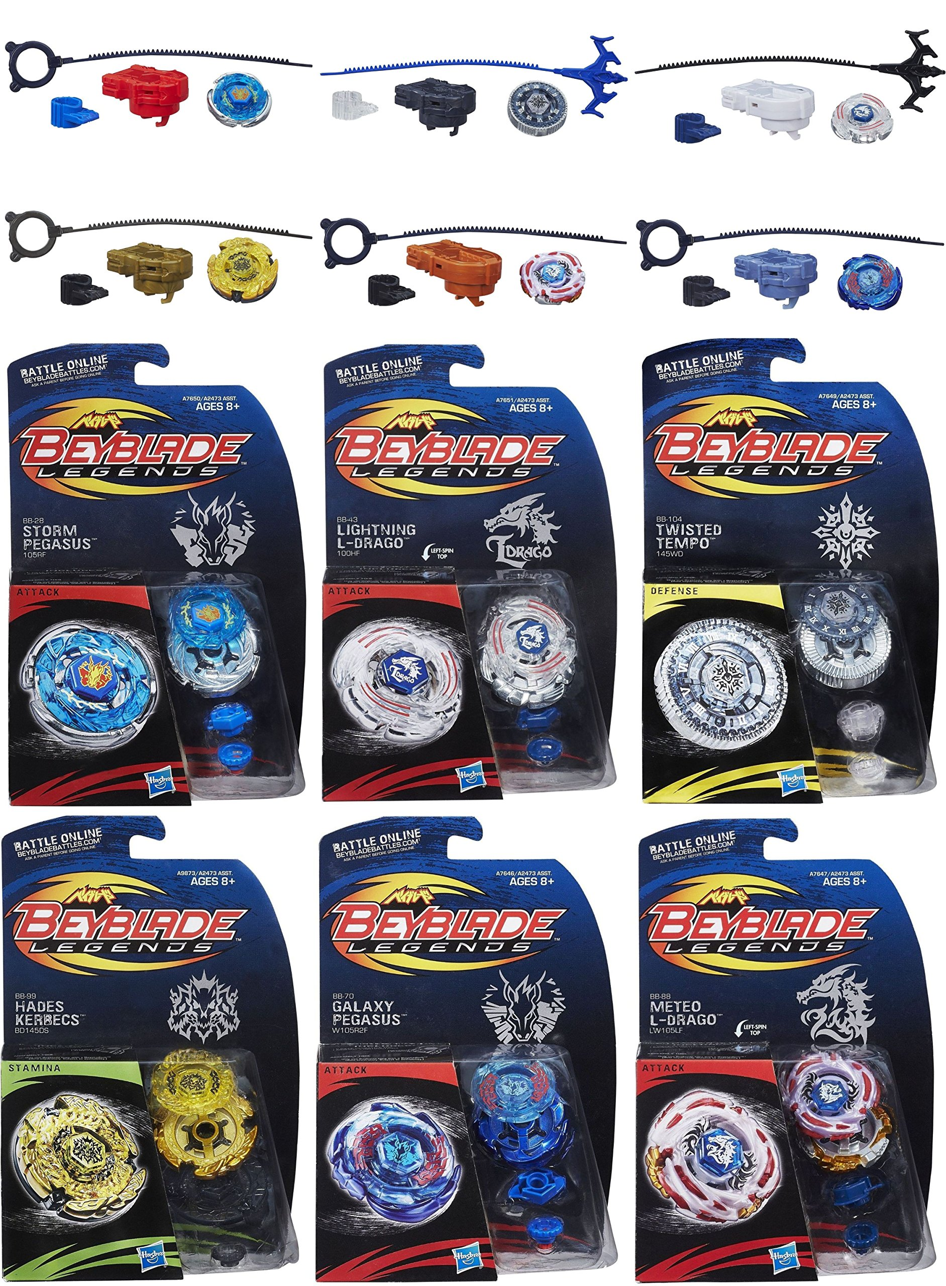 Beyblade Legends Tops 6 Pack Bundle