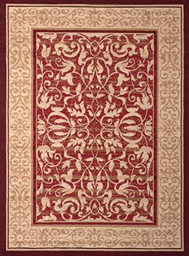 United Weavers of America Dallas Baroness Rug, 8 x 10 , Red