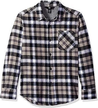 Volcom Caden Flannel Long Sleeve Button Up Shirt Camisa Abotonada para Niños: Amazon.es: Ropa y accesorios