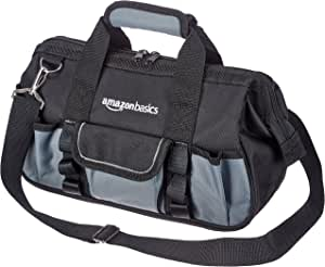 AmazonBasics Durable, Wear-Resistant Base, Tool Bag with Strap, Small (12 Inch)