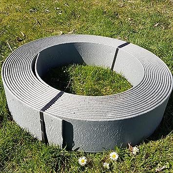 stabile rasenkante beetumrandung beeteinfassung mahkante profilkante rakaflex ca 14 cm hoch x 25 m