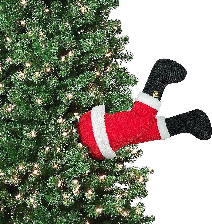"Mr. Christmas 30463 Indoor Animated Christmas Kickers 16"" - Santa Holiday Decoration, One Size, Multi"