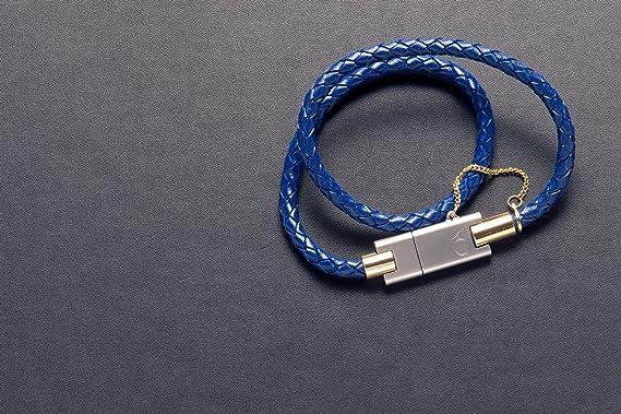 Amazon Com Wearable Bolt Leather Bracelet Clothing