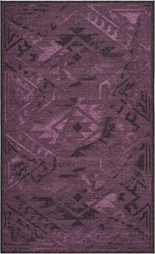 Safavieh Palazzo Collection PAL122-56C7 Black and Purple Area Rug 4 x 6