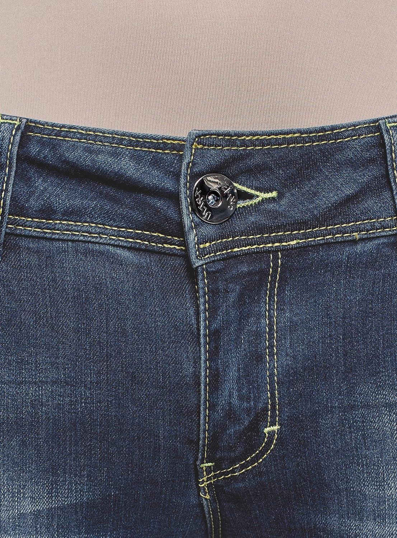 oodji Ultra Femme Jean Skinny avec Zips sur les Jambes  Amazon.fr   Vêtements et accessoires f5150d0a8ea4
