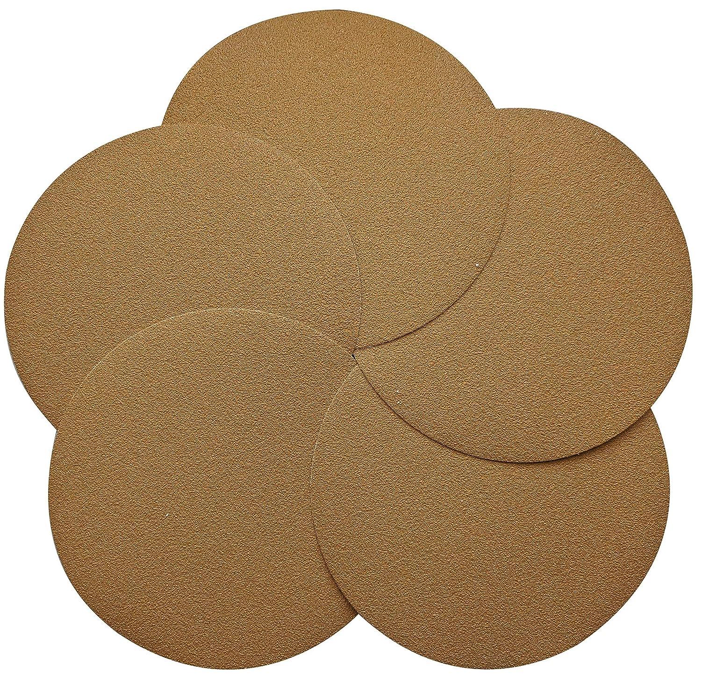 FUGEN Gold 20PCS 40 Grit 6 inch PSA Sanding Discs Self Stick for Random Orbital Sander and DA Sander Pack of 5