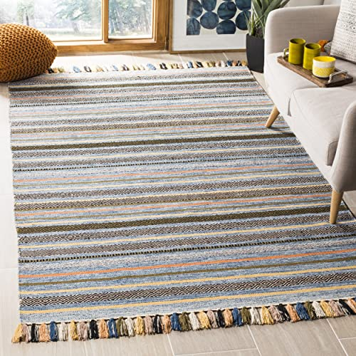 Safavieh Montauk Collection MTK901C Blue and Multi Area Rug 3 x 5