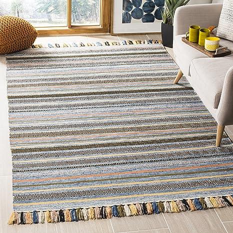 Safavieh Montauk Collection MTK901C Blue and Multi Area Rug (3 x ...