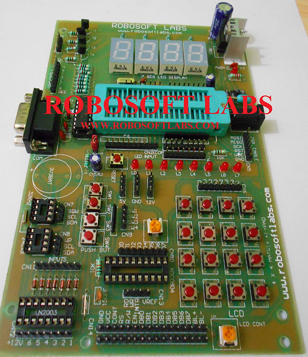 Buy Robosoft Labs 8051 8052 40 Pin Microcontroller Development Isp Pc Software For Programming This At89s51 52 Can Be Board With Rs232 Online At Low Prices In India