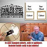 Stainless Steel Cabinet Door Restraint Kit