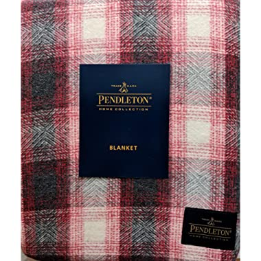 Pendleton Home Collection Eco Weave Cotton Plaid Blanket, Red/Grey, King