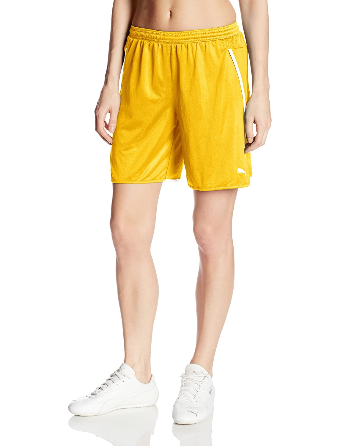 PUMA SHORTS レディース B00H2HNY0C 3L|Team Yellow/White Team Yellow/White 3L