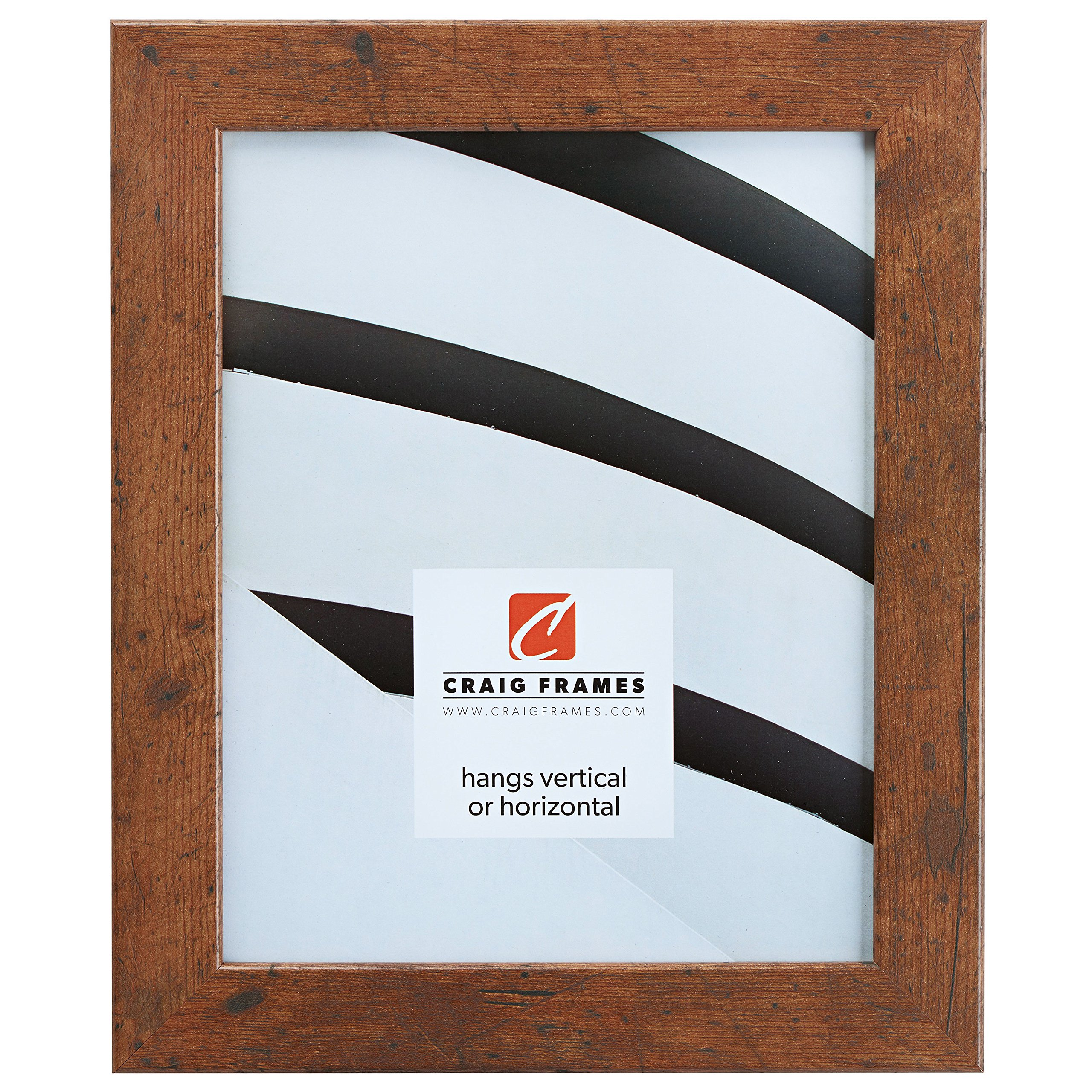 Craig Frames 26011 18 by 24-Inch Picture Frame, Smooth Wrap Finish, 1.26-Inch Wide, Distressed Light Walnut by Craig Frames