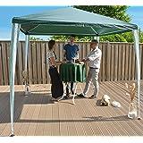 SORARA Gazebo Pavilion Party Tent | 270 x 270 cm (2.7 x 2.7 m) | Green/White 7 kg (UV 50+) PE | Event Outdoor Camping Garden Shelter Easy Up
