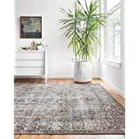 """Loloi ll Layla Collection Area Rug, 1'-6"""" x 1'-6"""" Sample Swatch, TAUPE/STONE"""