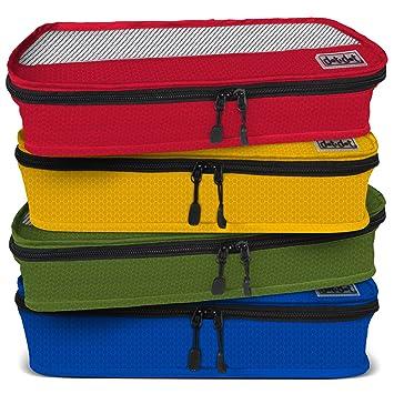 DOT Organizador para maletas, Red/Yellow/Green/Blue (Varios colores) - Packing Cubes: Amazon.es: Equipaje