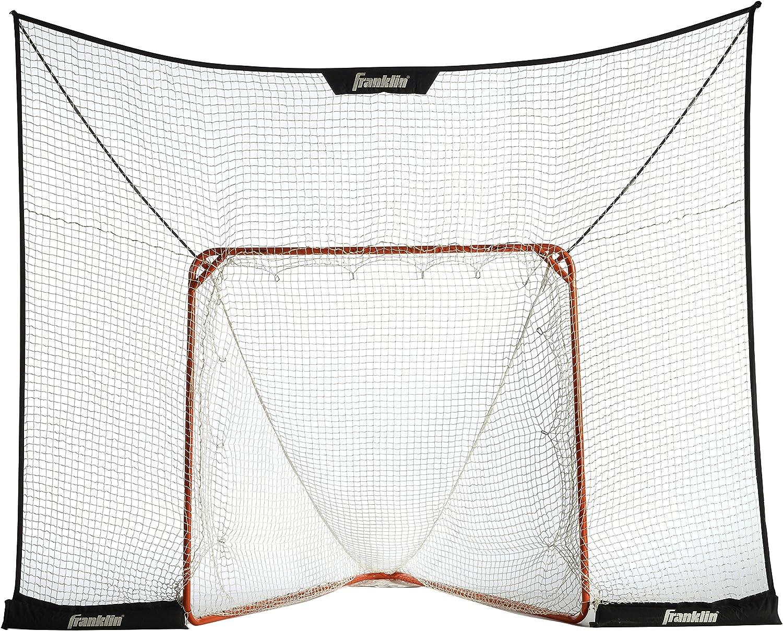 "Franklin Sports Lacrosse Goal Backstop – 12' x 9' FiberTech LAX Backstop Fits Most Official Size 72"" Goals – Indoor / Outdoor Lacrosse Play – Quick Set Up & Breakdown"