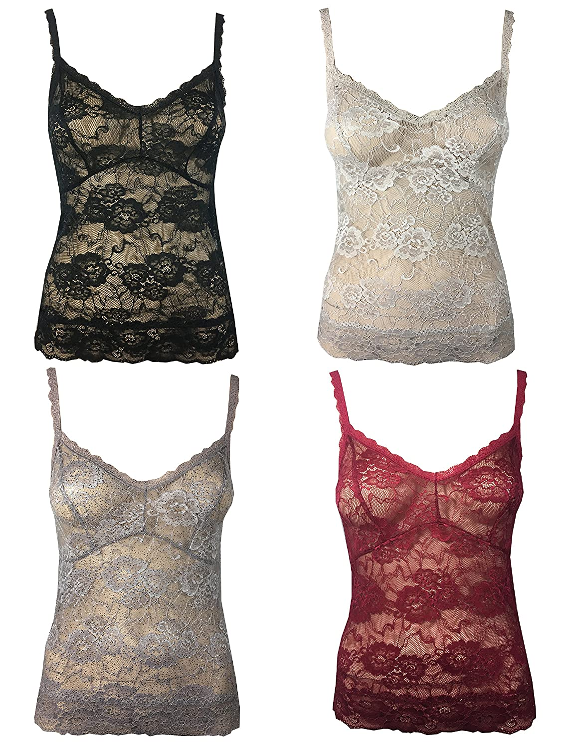 Ladies Marks & Spencer Isabella Lace Cami Vest Top Lingerie Nightwear M&S 6-18 (12, Red With Sparkle Bottom)