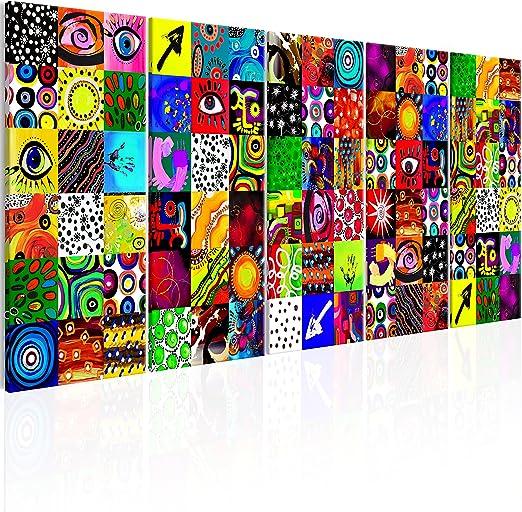 murando Impression sur Toile intissee Abstrait 60x40 cm 1 Piece Tableau Tableaux Decoration Murale Photo Image Artistique Photographie Graphique Amour color/é Gris Violet Rouge a-C-0151-b-b