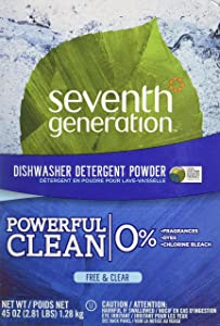 Seventh Generation Automatic Dishwashing Powder, Free & Clear, 45 oz