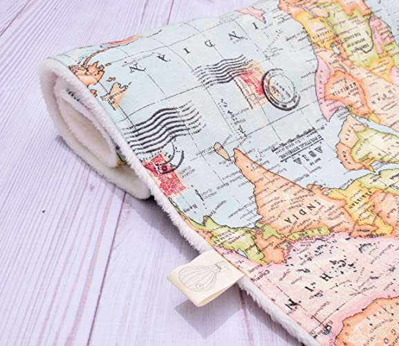 Amazoncom Adventure Awaits A World Map Handmade Blanket For - World map blanket