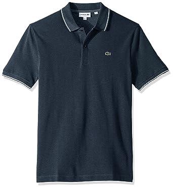 381102682 Lacoste Men's Short Sleeve Slim Fit Semi Fancy Birds Eye Polo at Amazon  Men's Clothing store: