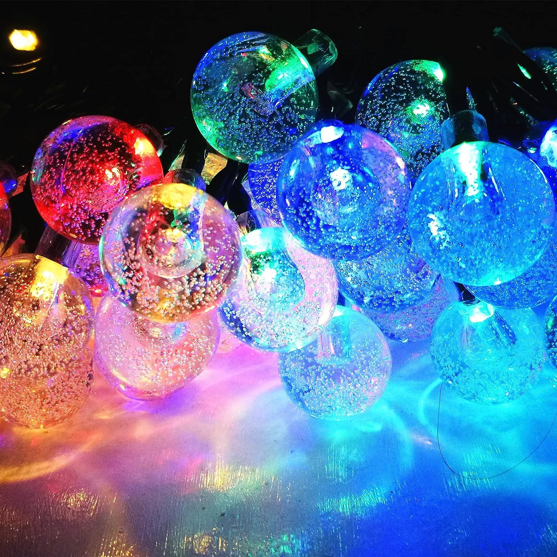 amazon com solar christmas lights outdoor decorative fairy