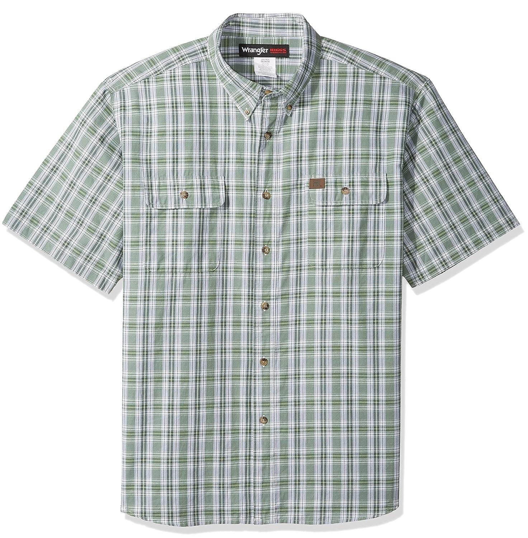 6e78a24d06 Amazon.com  Wrangler Men s Riggs Workwear Big and Tall Foreman Plaid Work  Shirt