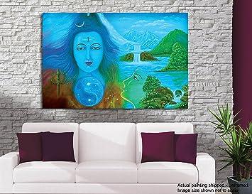 tamatina shiva bild auf leinwand kailas frieden name himalaya peak abode von lord shiva gemalde fur wohnzimmer