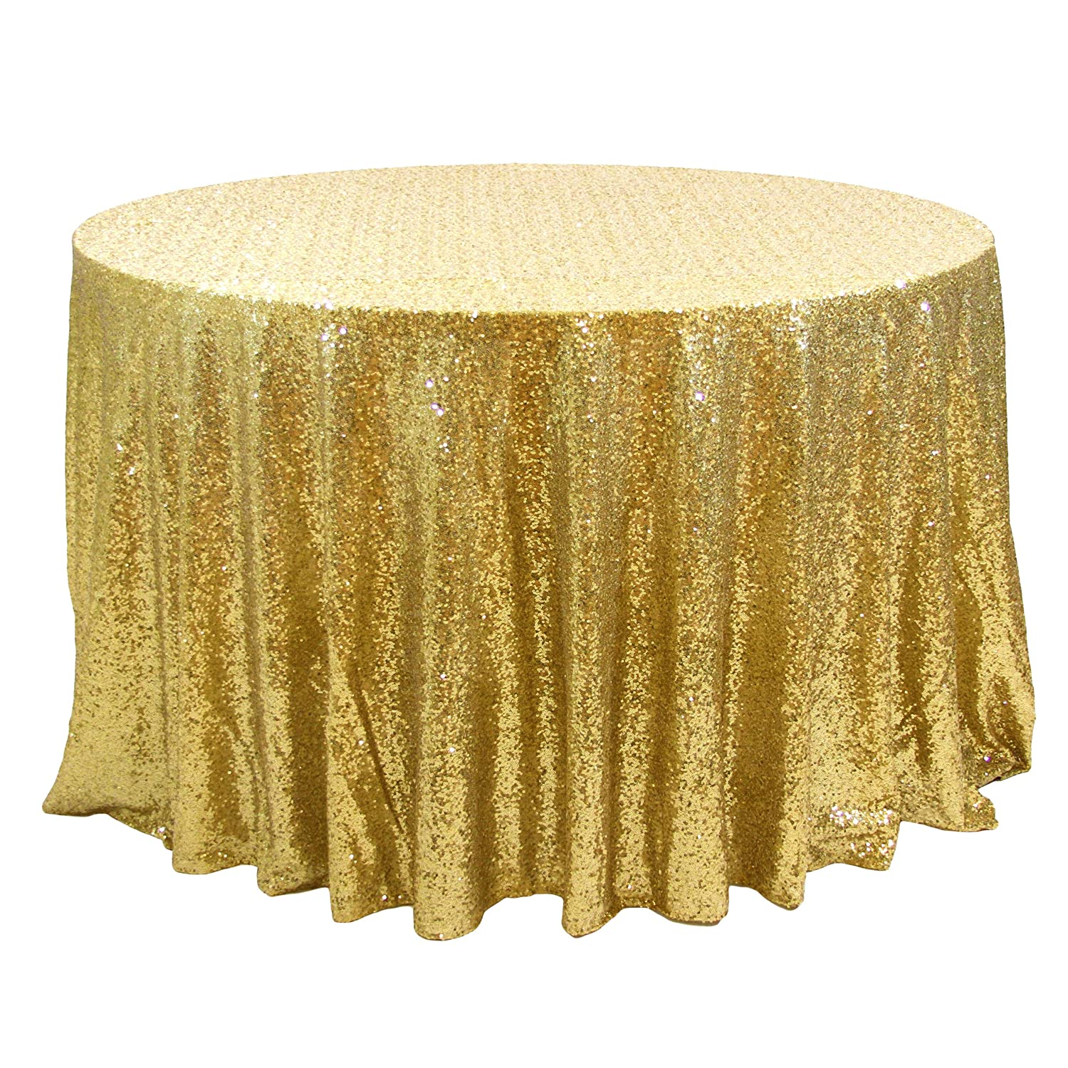 Amazon Koyal Wholesale Round Sequin Tablecloth 132